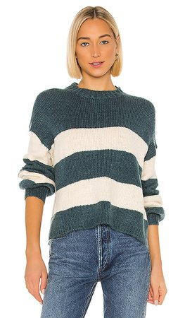 Lovers + Friends Mimi Long Sleeve Sweater in Blue & White | REVOLVE