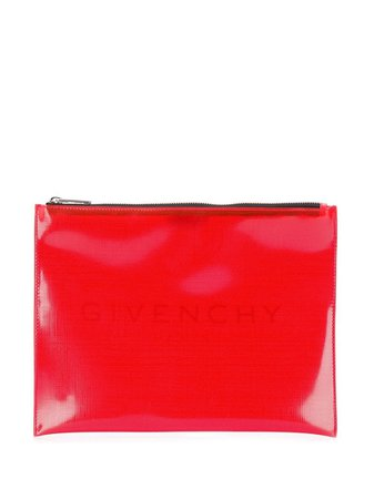 Givenchy Pvc Clutch BK600JK0JA Red | Farfetch