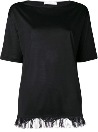 Fringed Short-Sleeve Top