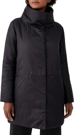 Stand Collar Cocoon Coat