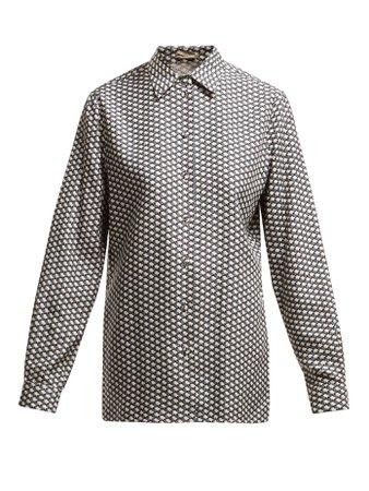 Butterfly-print silk shirt | Bottega Veneta | MATCHESFASHION.COM