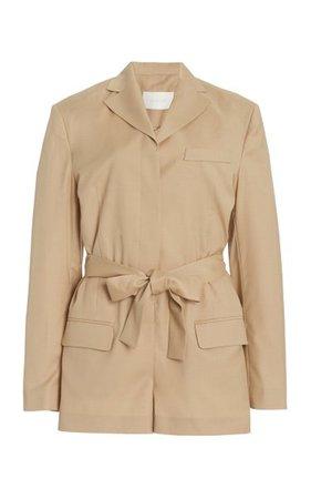Belted Wool-Blend Blazer Jumpsuit By Low Classic | Moda Operandi