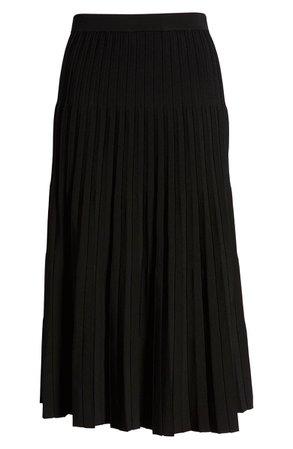 Halogen® Pleated Knit Skirt black
