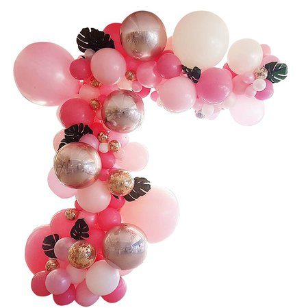 Pink Balloon Garland Kit Rose gold Confetti Balloon Arch Bachelorette Balloon Bridal Shower Banner Birthday Ballon Set | Shopee Malaysia