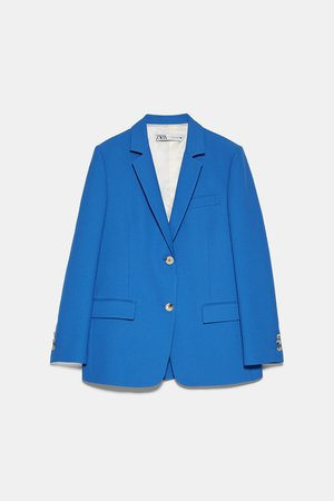 BLAZER WITH BUTTONS | ZARA United States blue