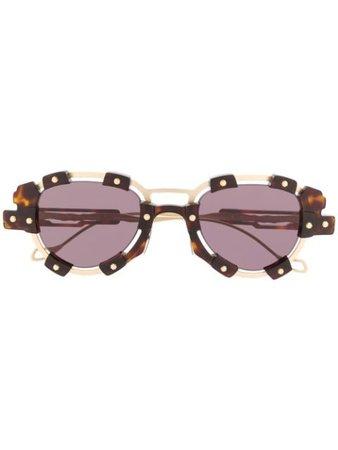 Kuboraum V2 Sun Mask Sunglasses V2 Gold | Farfetch