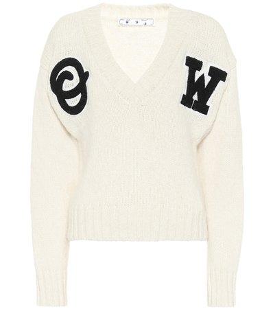 Off-White - Alpaca-blend sweater | Mytheresa