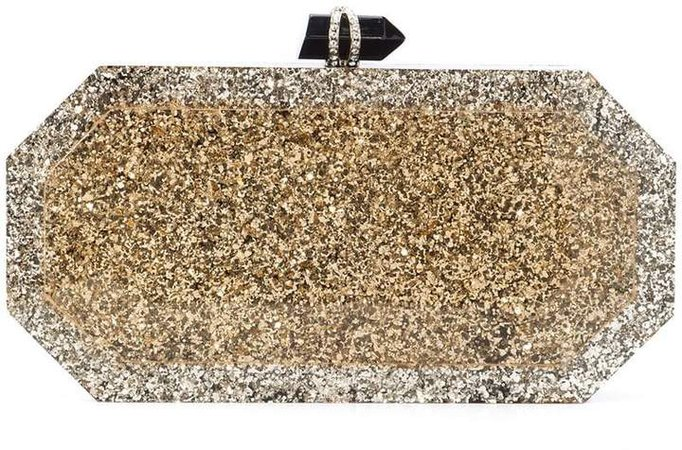 marbeled box clutch bag