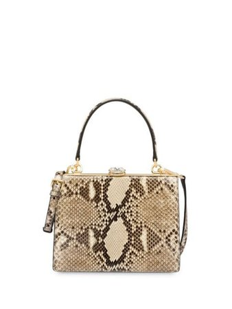Neutral Miu Miu Ayers Leather Bag | Farfetch.com