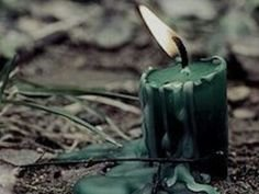 candle in the woods