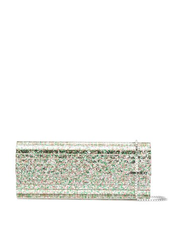 Jimmy Choo Sweetie glitter-embellished Clutch Bag - Farfetch