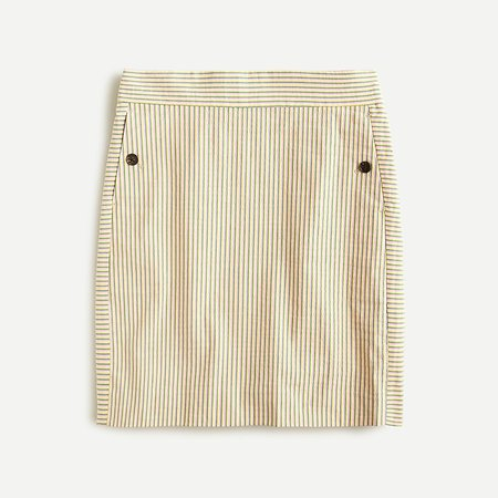J.Crew: Mini Skirt In Stretch Seersucker For Women