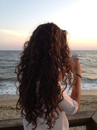 brown wavy curly hair long