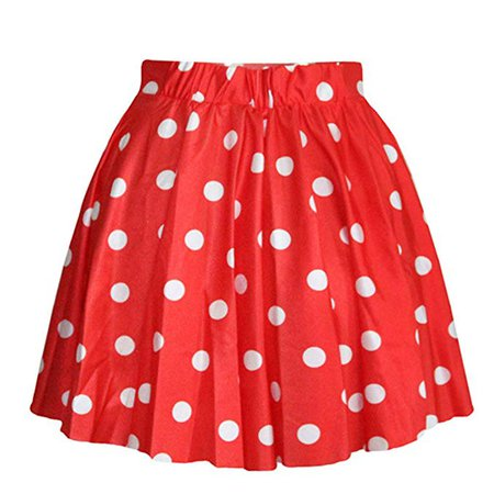 Red & White Polka Dot Skirt