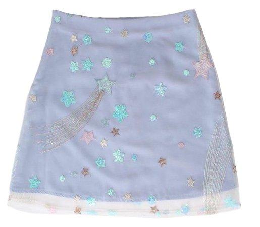 periwinkle cosmic mini skirt