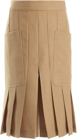 Victoria Beckham Pleated Wool Culottes