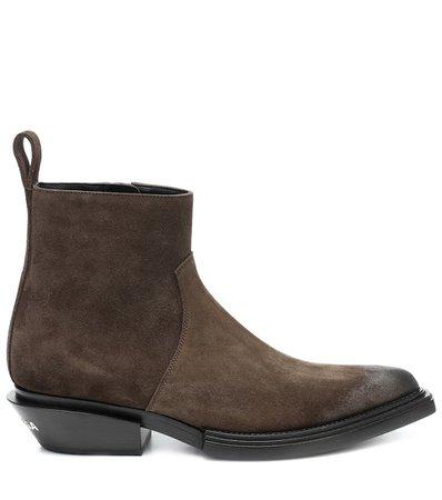 Suede Ankle Boots - Balenciaga | Mytheresa