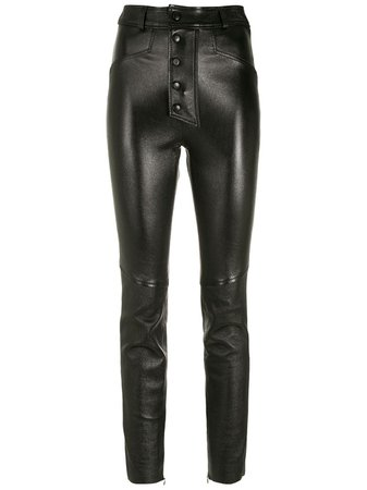 Nk Leather Skinny Trousers - Farfetch