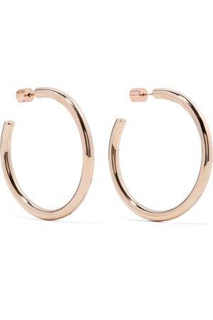 Jennifer Fisher   Baby Lilly rose gold-plated hoop earrings   NET-A-PORTER.COM