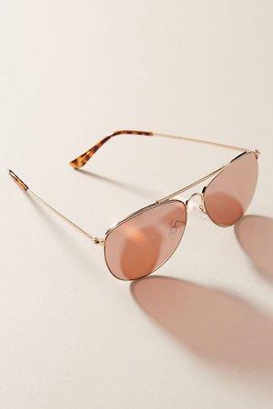 Violet Aviator Sunglasses | Anthropologie