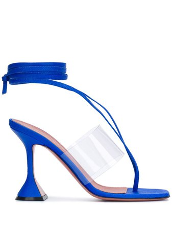 Blue Amina Muaddi Zula sandals ZULASANDAL - Farfetch