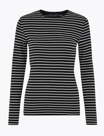 Pure Cotton Striped Regular Fit T-Shirt | M&S Collection | M&S
