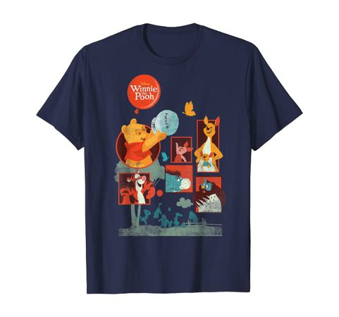 Amazon.com: Disney Winnie The Pooh And Friends Panels T-Shirt: Clothing