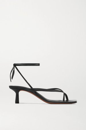 Situla Leather Sandals - Black