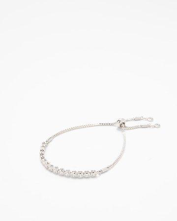 Cubic Zirconia Pull Chain Bracelet | Express