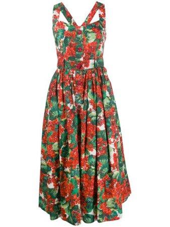 Dolce & Gabbana Portofino-print Midi Dress - Farfetch