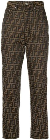 Pre-Owned Zucca pattern cropped trousers
