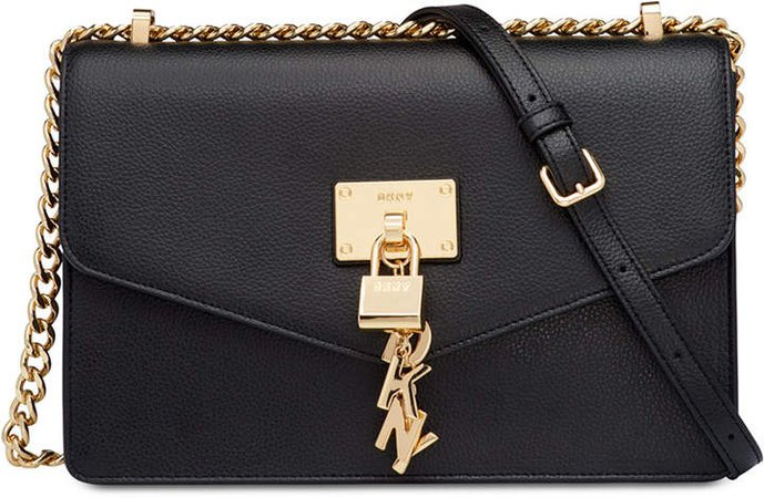 Elissa Leather Chain Strap Shoulder Bag