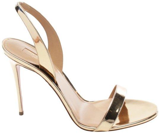 Metallic Patent leather Sandals