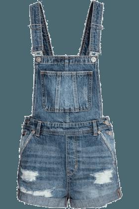 H&M Denim Dungaree Shorts