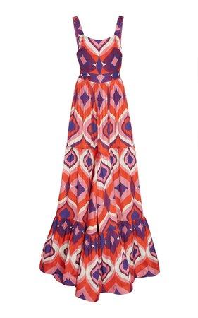 Alexis Jourdan Printed Crepe Maxi Dress