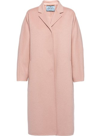 Prada single-breasted coat with Express Delivery - Farfetch