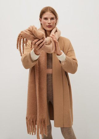 Knitted long coat - Women | Mango USA