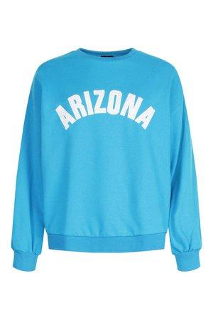 Arizona Applique Oversized Sweat | boohoo