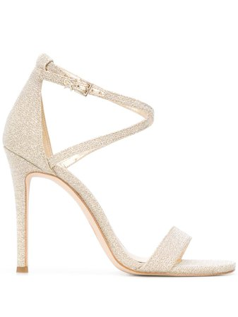 Michael Kors Collection Glitter Heeled Sandals - Farfetch