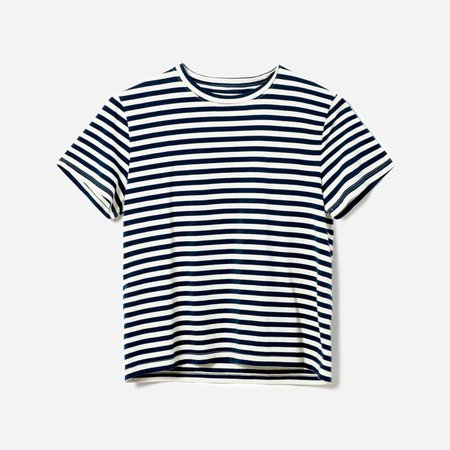 Women's Organic Cotton Box-Cut Tee | Everlane white