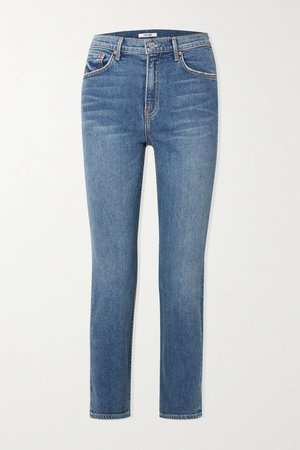 cropped high-rise straight-leg jeans | GRLFRND | NET-A-PORTER