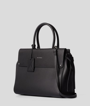 K/Ikon Large Top Handle Bag | Karl Lagerfeld Collections |By Karl Lagerfeld | Karl.Com