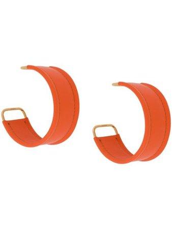 Orange Jacquemus bangle-style hoop earrings 194JW0379700 - Farfetch