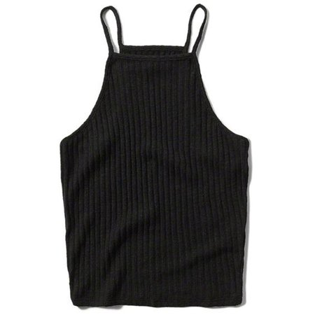 Abercrombie & Fitch Snit High Neck Crop Tank