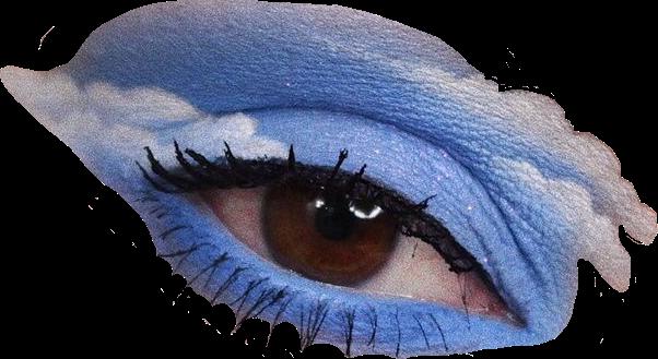 eye eyemakeup eyeshadow blue blueaesthetic clouds vinta...