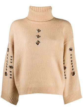 Pinko Knitted Jumper With Stud Detailing - Farfetch