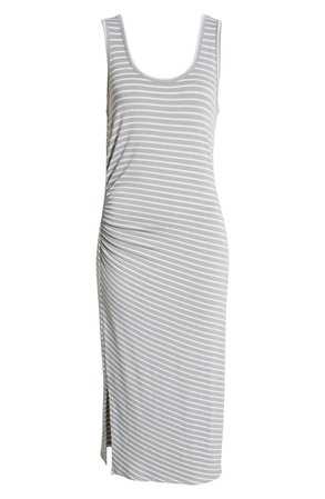Caslon® Side Rouched Sleeveless Midi Tank Dress | Nordstrom