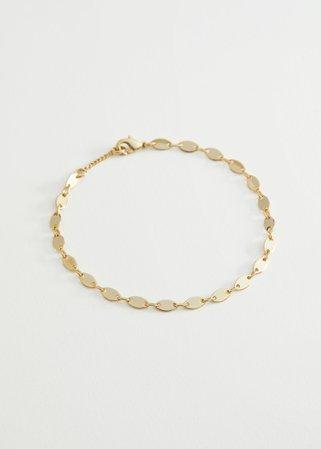 Oval Pendant Chain Bracelet - Gold - Bracelets - & Other Stories