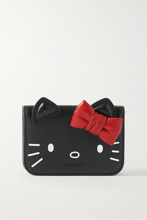 Black + Hello Kitty printed leather wallet | Balenciaga | NET-A-PORTER