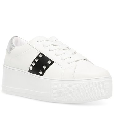 Steve Madden Women's Pingo Studded Flatform Sneakers & Reviews - Athletic Shoes & Sneakers - Shoes - Macy's